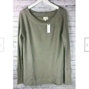 NWT DELETTA by ANTHROPOLOGIE Sage Green Sweater XL